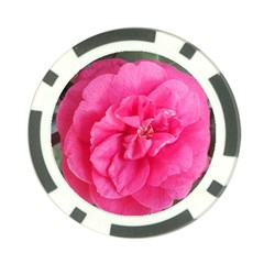 Pink Flower Japanese Tea Rose Floral Design Poker Chip Card Guard (10 Pack) by yoursparklingshop
