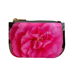 Pink Flower Japanese Tea Rose Floral Design Mini Coin Purses by yoursparklingshop