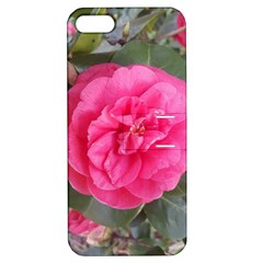 Pink Flower Japanese Tea Rose Floral Design Apple Iphone 5 Hardshell Case With Stand by yoursparklingshop