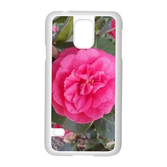 Pink Flower Japanese Tea Rose Floral Design Samsung Galaxy S5 Case (white) by yoursparklingshop
