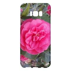 Pink Flower Japanese Tea Rose Floral Design Samsung Galaxy S8 Plus Hardshell Case  by yoursparklingshop