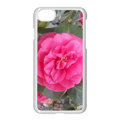 Pink Flower Japanese Tea Rose Floral Design Apple Iphone 8 Seamless Case (white)