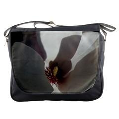 Magnolia Floral Flower Pink White Messenger Bags by yoursparklingshop