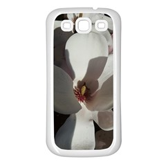 Magnolia Floral Flower Pink White Samsung Galaxy S3 Back Case (white) by yoursparklingshop