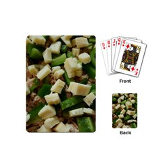 Cheese And Peppers Green Yellow Funny Design Playing Cards (mini)  by yoursparklingshop