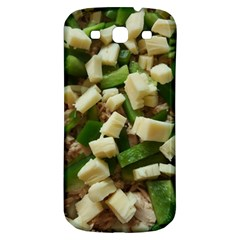 Cheese And Peppers Green Yellow Funny Design Samsung Galaxy S3 S Iii Classic Hardshell Back Case by yoursparklingshop