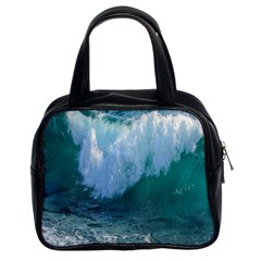 Awesome Wave Ocean Photography Classic Handbags (2 Sides) by yoursparklingshop