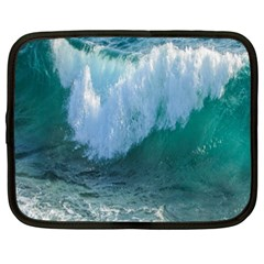 Awesome Wave Ocean Photography Netbook Case (xxl)  by yoursparklingshop