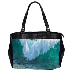Awesome Wave Ocean Photography Office Handbags (2 Sides)  by yoursparklingshop