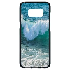 Awesome Wave Ocean Photography Samsung Galaxy S8 Black Seamless Case by yoursparklingshop