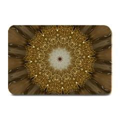 Elegant Festive Golden Brown Kaleidoscope Flower Design Plate Mats by yoursparklingshop