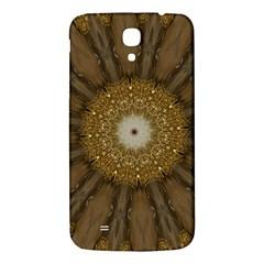 Elegant Festive Golden Brown Kaleidoscope Flower Design Samsung Galaxy Mega I9200 Hardshell Back Case by yoursparklingshop
