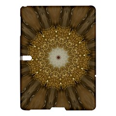 Elegant Festive Golden Brown Kaleidoscope Flower Design Samsung Galaxy Tab S (10 5 ) Hardshell Case  by yoursparklingshop