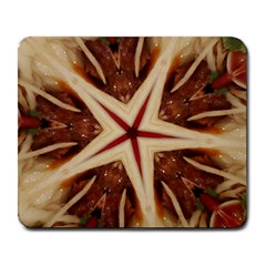 Spaghetti Italian Pasta Kaleidoscope Funny Food Star Design Large Mousepads by yoursparklingshop
