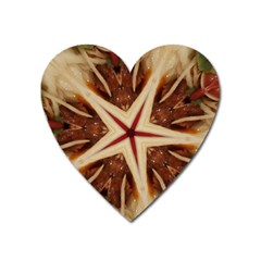 Spaghetti Italian Pasta Kaleidoscope Funny Food Star Design Heart Magnet by yoursparklingshop