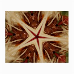 Spaghetti Italian Pasta Kaleidoscope Funny Food Star Design Small Glasses Cloth (2 Side) by yoursparklingshop