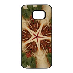 Spaghetti Italian Pasta Kaleidoscope Funny Food Star Design Samsung Galaxy S7 Edge Black Seamless Case by yoursparklingshop