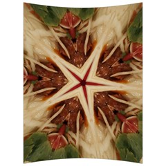 Spaghetti Italian Pasta Kaleidoscope Funny Food Star Design Back Support Cushion by yoursparklingshop