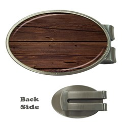 Rustic Dark Brown Wood Wooden Fence Background Elegant Money Clips (oval)  by yoursparklingshop