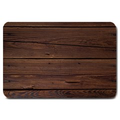 Rustic Dark Brown Wood Wooden Fence Background Elegant Large Doormat  by yoursparklingshop