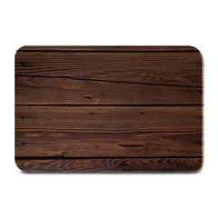 Rustic Dark Brown Wood Wooden Fence Background Elegant Plate Mats by yoursparklingshop