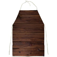 Rustic Dark Brown Wood Wooden Fence Background Elegant Full Print Aprons by yoursparklingshop