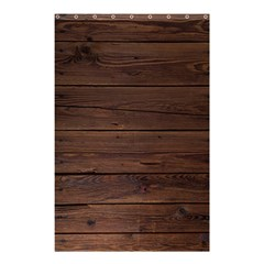 Rustic Dark Brown Wood Wooden Fence Background Elegant Shower Curtain 48  X 72  (small)  by yoursparklingshop