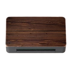 Rustic Dark Brown Wood Wooden Fence Background Elegant Memory Card Reader With Cf by yoursparklingshop