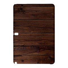 Rustic Dark Brown Wood Wooden Fence Background Elegant Samsung Galaxy Tab Pro 10 1 Hardshell Case by yoursparklingshop