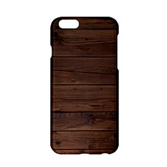Rustic Dark Brown Wood Wooden Fence Background Elegant Apple Iphone 6/6s Hardshell Case by yoursparklingshop