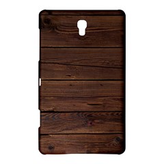 Rustic Dark Brown Wood Wooden Fence Background Elegant Samsung Galaxy Tab S (8 4 ) Hardshell Case  by yoursparklingshop