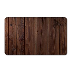 Rustic Dark Brown Wood Wooden Fence Background Elegant Natural Country Style Magnet (rectangular) by yoursparklingshop