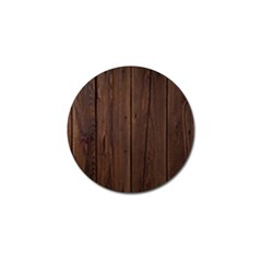 Rustic Dark Brown Wood Wooden Fence Background Elegant Natural Country Style Golf Ball Marker by yoursparklingshop