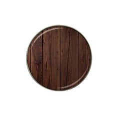 Rustic Dark Brown Wood Wooden Fence Background Elegant Natural Country Style Hat Clip Ball Marker (4 Pack) by yoursparklingshop