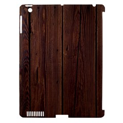 Rustic Dark Brown Wood Wooden Fence Background Elegant Natural Country Style Apple Ipad 3/4 Hardshell Case (compatible With Smart Cover) by yoursparklingshop