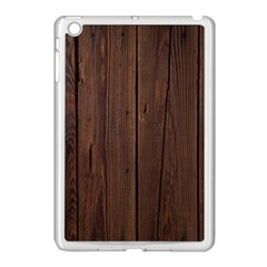 Rustic Dark Brown Wood Wooden Fence Background Elegant Natural Country Style Apple Ipad Mini Case (white) by yoursparklingshop