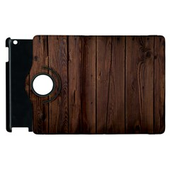 Rustic Dark Brown Wood Wooden Fence Background Elegant Natural Country Style Apple Ipad 3/4 Flip 360 Case by yoursparklingshop