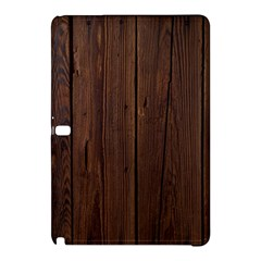 Rustic Dark Brown Wood Wooden Fence Background Elegant Natural Country Style Samsung Galaxy Tab Pro 12 2 Hardshell Case by yoursparklingshop