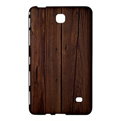 Rustic Dark Brown Wood Wooden Fence Background Elegant Natural Country Style Samsung Galaxy Tab 4 (7 ) Hardshell Case  by yoursparklingshop