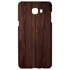 Rustic Dark Brown Wood Wooden Fence Background Elegant Natural Country Style Samsung C9 Pro Hardshell Case  by yoursparklingshop