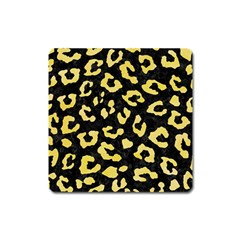 Skin5 Black Marble & Yellow Watercolor Square Magnet by trendistuff