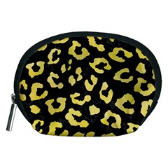 Skin5 Black Marble & Yellow Watercolor Accessory Pouches (medium)  by trendistuff