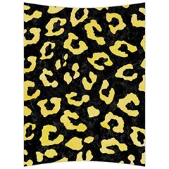 Skin5 Black Marble & Yellow Watercolor Back Support Cushion by trendistuff