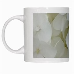 Hydrangea Flowers Blossom White Floral Elegant Bridal Chic White Mugs by yoursparklingshop