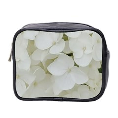 Hydrangea Flowers Blossom White Floral Elegant Bridal Chic Mini Toiletries Bag 2 Side by yoursparklingshop