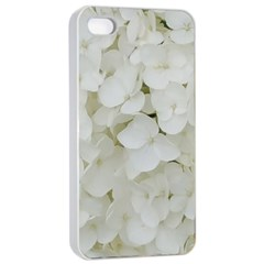 Hydrangea Flowers Blossom White Floral Elegant Bridal Chic Apple Iphone 4/4s Seamless Case (white) by yoursparklingshop