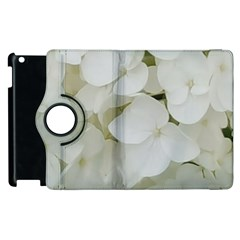 Hydrangea Flowers Blossom White Floral Elegant Bridal Chic Apple Ipad 3/4 Flip 360 Case by yoursparklingshop