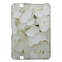 Hydrangea Flowers Blossom White Floral Elegant Bridal Chic Kindle Fire Hd 8 9  by yoursparklingshop