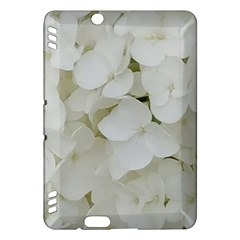 Hydrangea Flowers Blossom White Floral Elegant Bridal Chic Kindle Fire Hdx Hardshell Case by yoursparklingshop