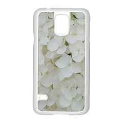 Hydrangea Flowers Blossom White Floral Elegant Bridal Chic Samsung Galaxy S5 Case (white) by yoursparklingshop